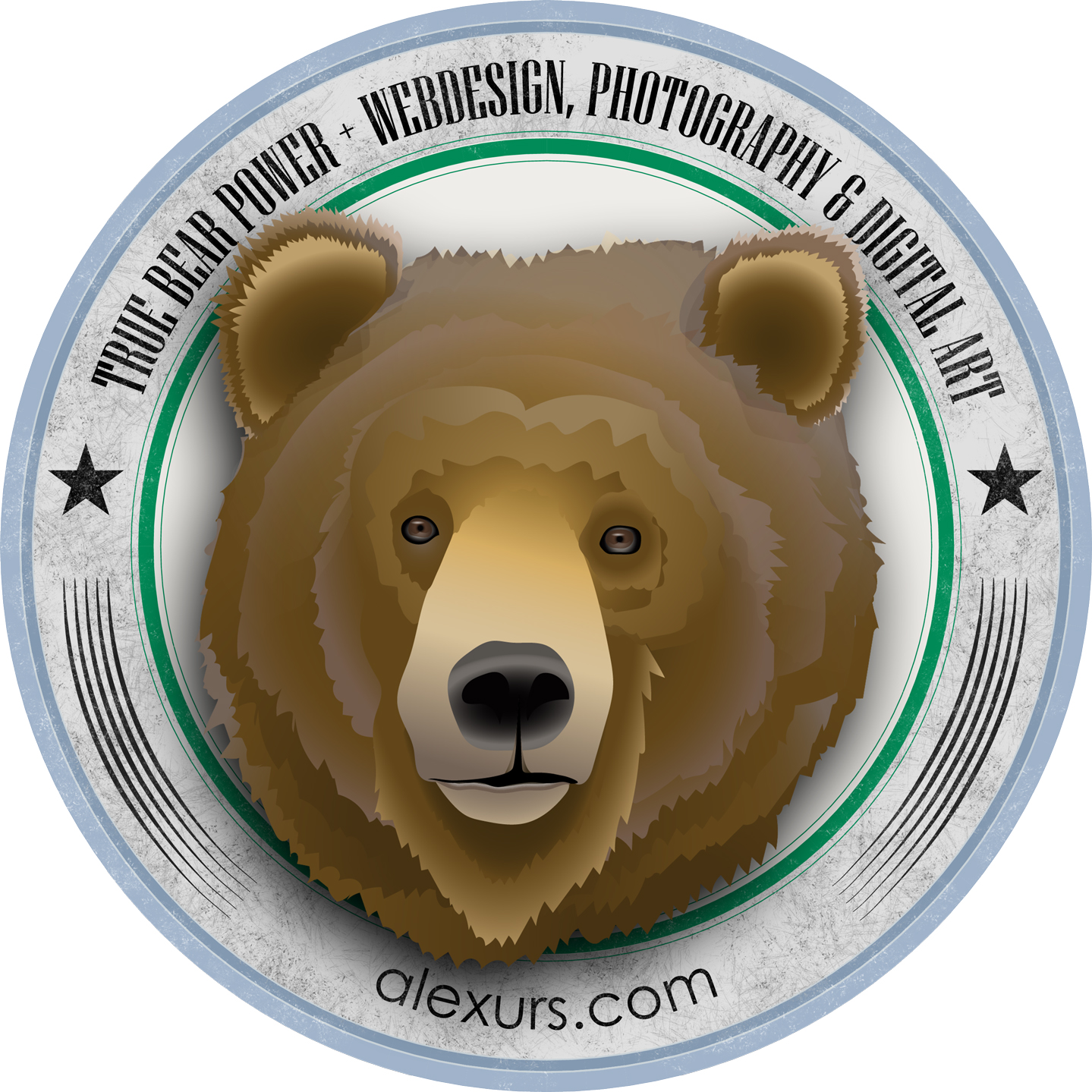 Illustration: True Bear Power – Badge